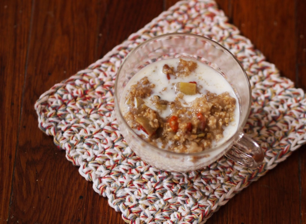 Crab Apple Steel-Cut Oats - The Clean Gourmet