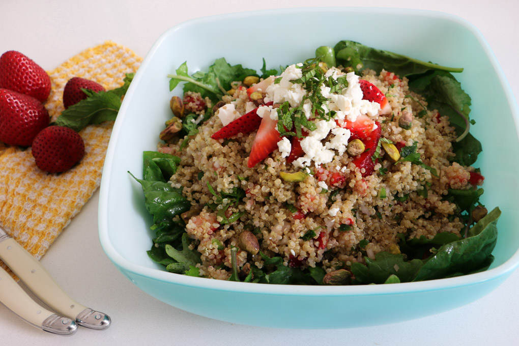 Strawberry, Mint and Jalapeno Quinoa Pilaf - The Clean Gourmet