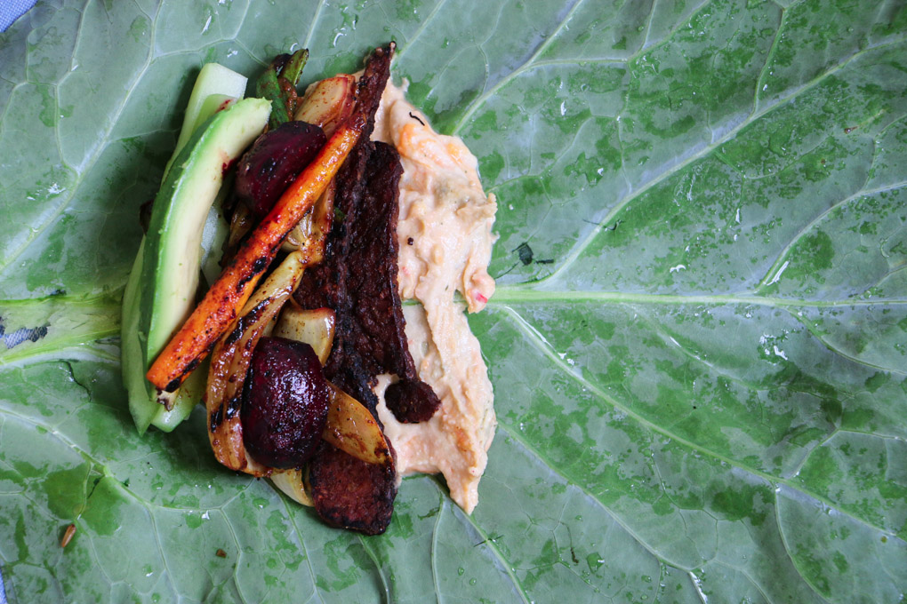 Sweet and Spicy Collard Wraps - The Clean Gourmet