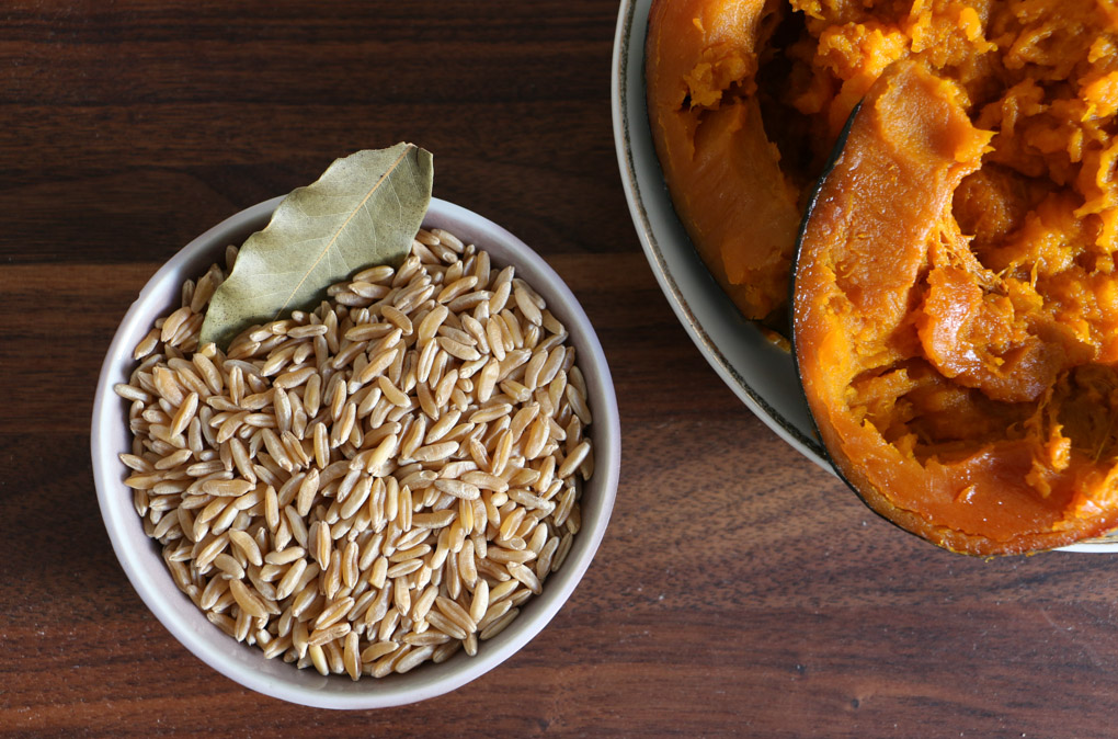 Whole Grain Pumpkin Risotto - The Clean Gourmet