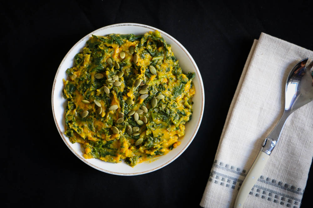 Pumpkin Creamed Kale - The Clean Gourmet