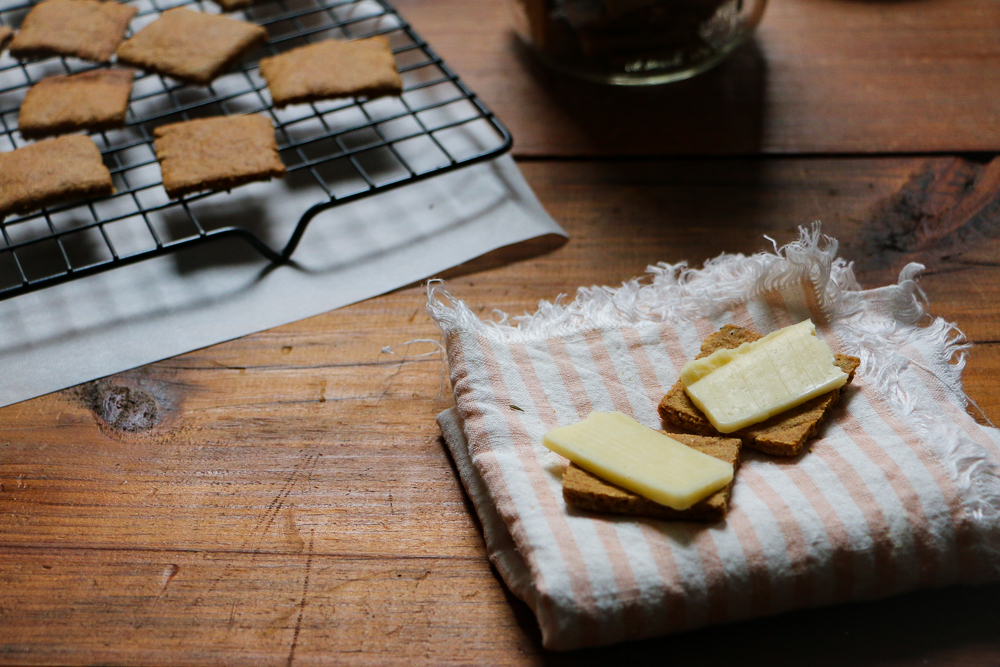 """Cheesy"" Sourdough Crackers - The Clean Gourmet"