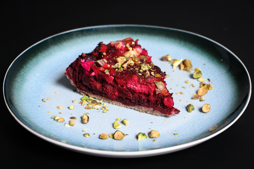 Smoky Beet and Feta Tart with Whole Wheat Crust - The Clean Gourmet